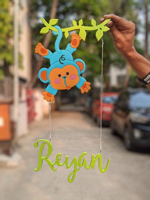 Monkey Hanging Nametag