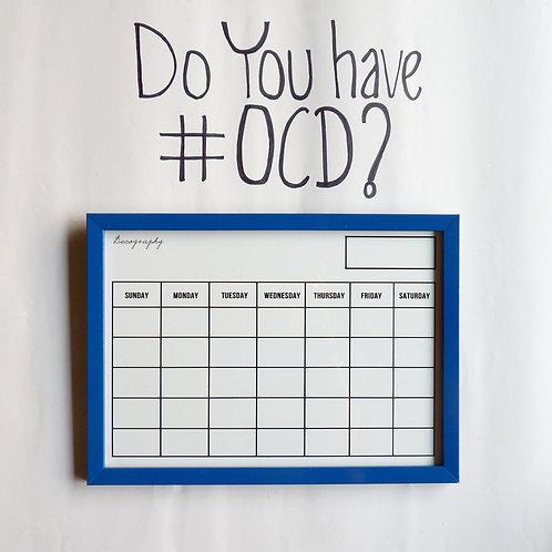 Write and erase calendar -Blue