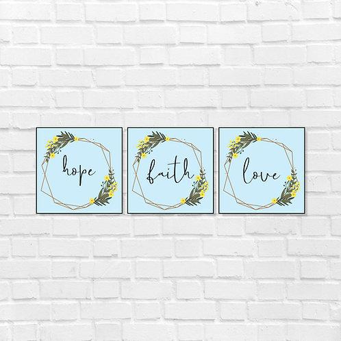 Hope Faith Love Combo
