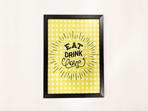 Eat drink love magnet board