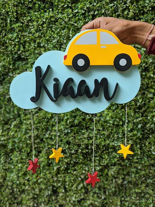 Cloud Hanging Nametag