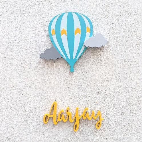 Hot Air Balloon Hanging Nametag