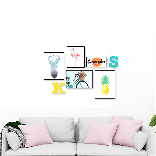 This is our happy place - living room wall