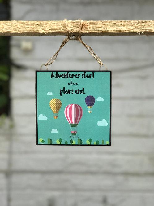 Adventure Starts - Art Frame