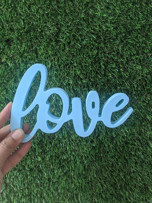Love- 3D word