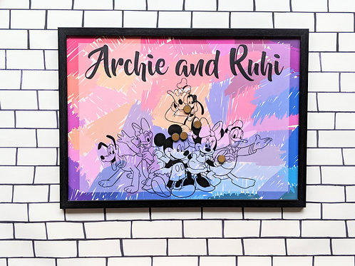Mickey and friends magnet board