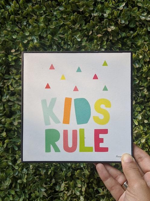 Kids rule - art frame