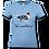 "Thumbnail: T-Shirt ""Comic Aussie blue merle"" mit Hundemotiv und Wunschtext"