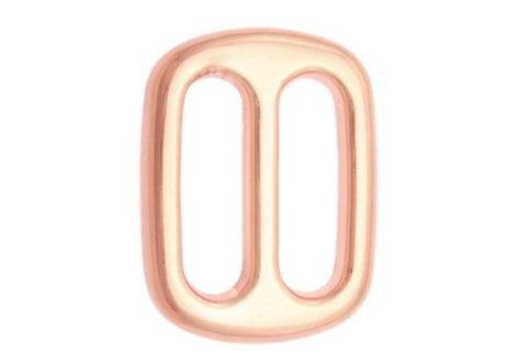 Verstellschieber aus Stahl, roségold, 4 Größen