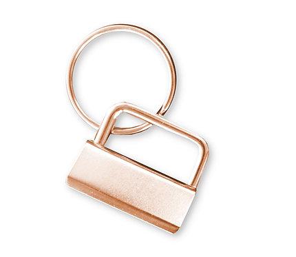 Schlüsselanhänger-Rohling Clip, roségold, 25mm