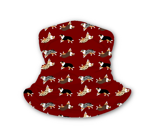 """Loop Schlauchschal """"Australian Shepherd"""" mit Hundemotiv, viele Farben"""