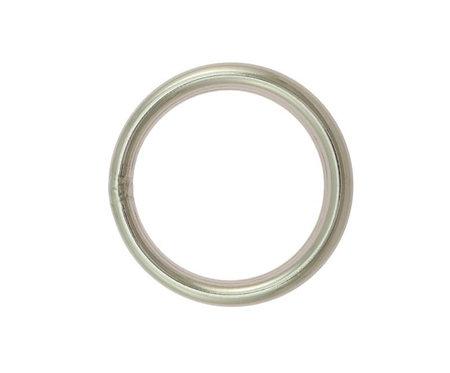 O-Ring aus Edelstahl, silber, 5 Größen