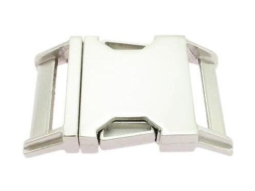 Metall-Klickverschluss, silber-glänzend, 30mm