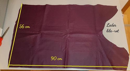 0,46qm Leder rötlich-violett