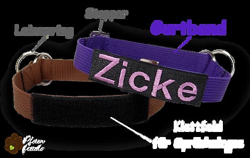 Zugstopp-Halsband individuell, nur Gurtband