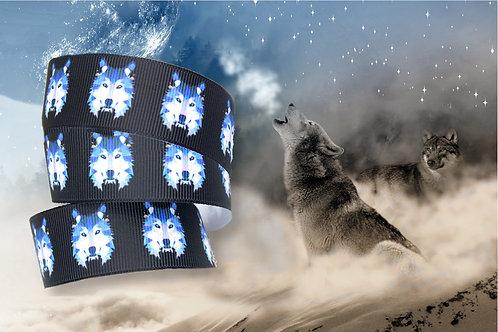"""1m Borte """"Wolf schwarz"""", 22mm (2,90€/m)"""