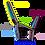 Thumbnail: Gepolstertes Halfter individuell nach Maß, mit Borte und Leder