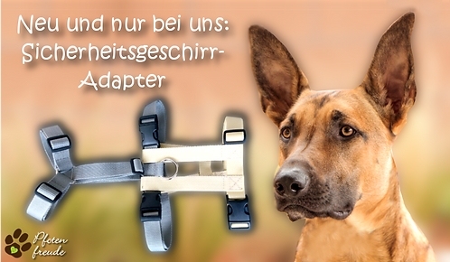 Sicherheitsgeschirr-Adapter für Hundegeschirre mit NEOPREN