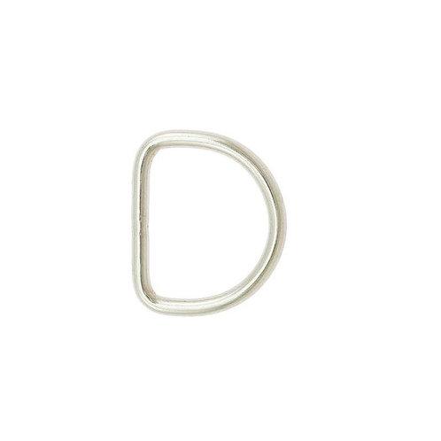 D-Ring aus Edelstahl, silber, 5 Größen