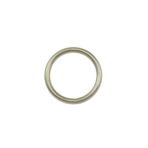 O-Ring aus Stahl, vernickelt, silber, 5 Größen