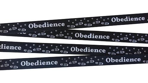 """Webband """"Obedience"""" schwarz, 20mm (3,50€/m)"""