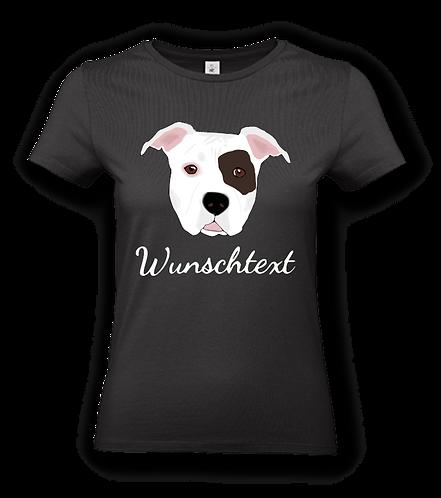 """T-Shirt """"AmStaff"""" mit Hundemotiv und Wunschtext"""