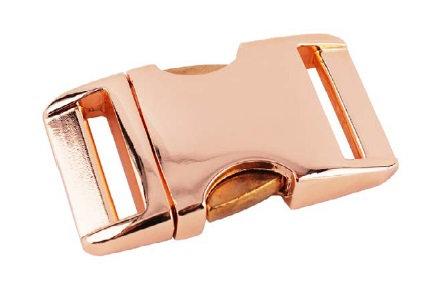 Alu-Max Klickverschluss, roségold-glänzend, 2 Breiten