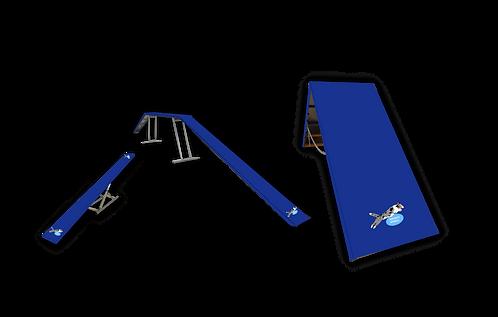 Abdeckplane, Abdeckung für Agility-Geräte, Steg, A-Wand, Wippe