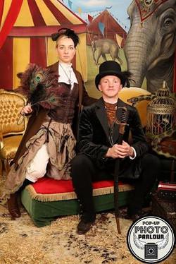 Victorian circus theme wedding