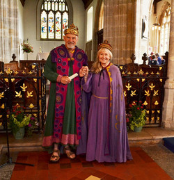 King and Queen in cathedral