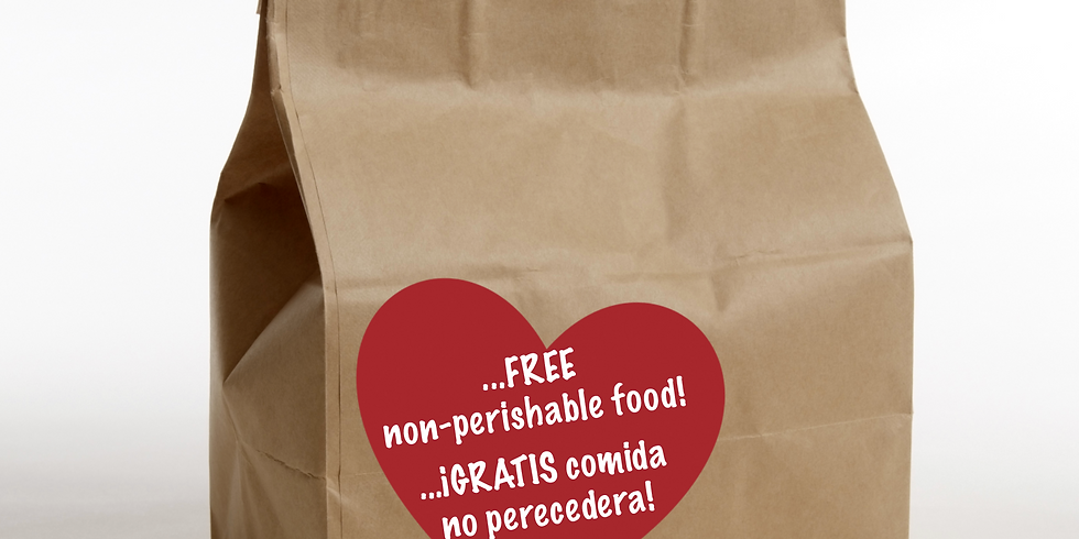 Plaza Terrace - FREE non-perishable food/ GRATIS comida no perecedera
