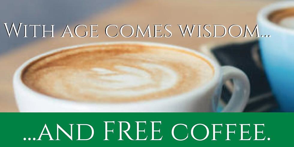 Free coffee and a pastry! Café y pastelería gratis!
