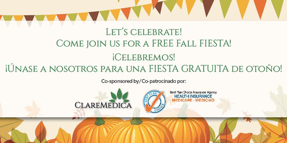 Oct 25 •FREE Fall FIESTA! • ¡FIESTA GRATUITA de otoño!