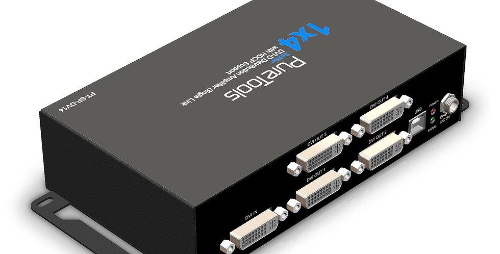PureTools 2K FHD DVI (Single link) signaalijagaja 1x4