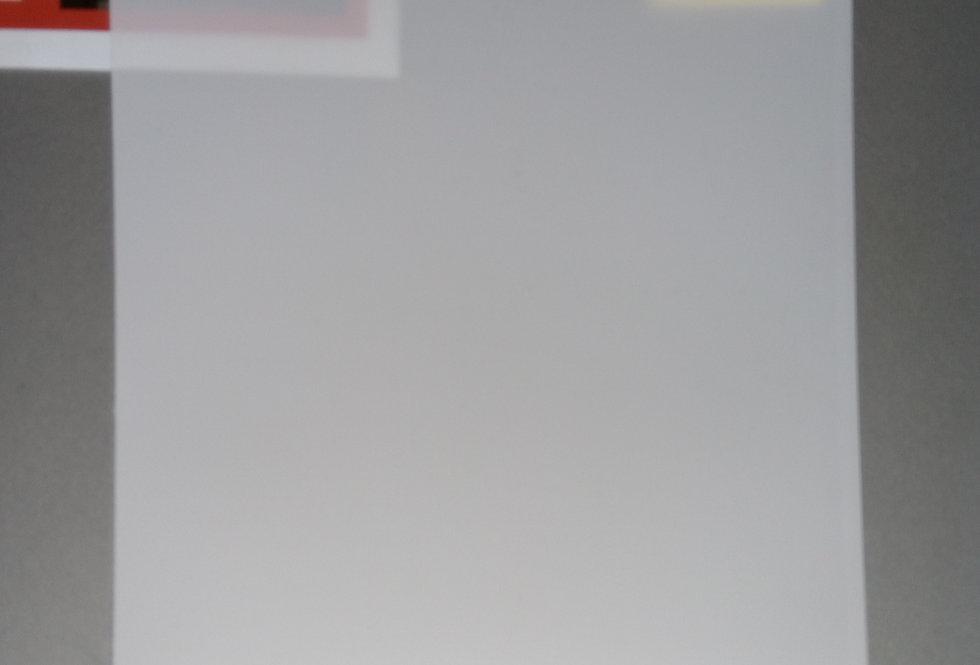 Projektsioonkile ehk ekraanikile - valge/lumivalge (2-poolne kile)