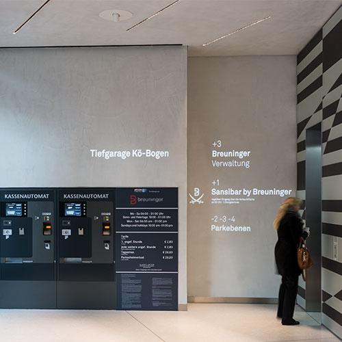 Kö Bogen, Düsseldorf-Gobo projektor