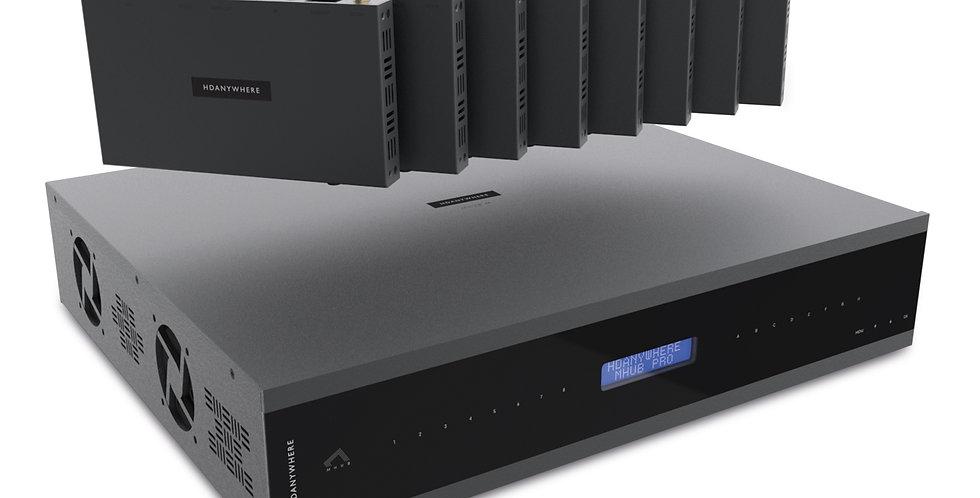 HDanywhere - MHUB PRO (8x8) 70m kompl. 8 RX | 4K HDR AV multiruum süsteem