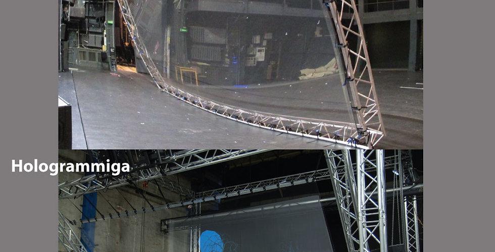 Lava suur hologramm kile - läbipaistev