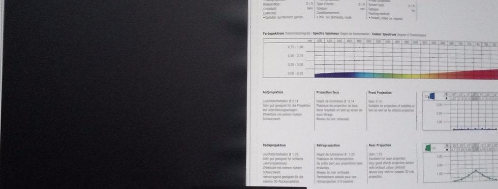Show® - must eest ja tagant projekteeritav PVC ekraan