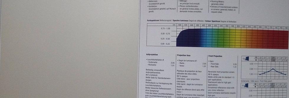 Opera High Gain® - pärl/valge eest projekteeritav PVC ekraanimaterj