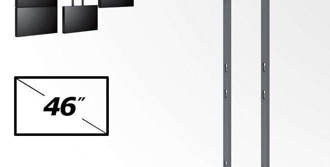 Videoseina kinnitus jalad - VESA 400  - 3 ekraan - maastik