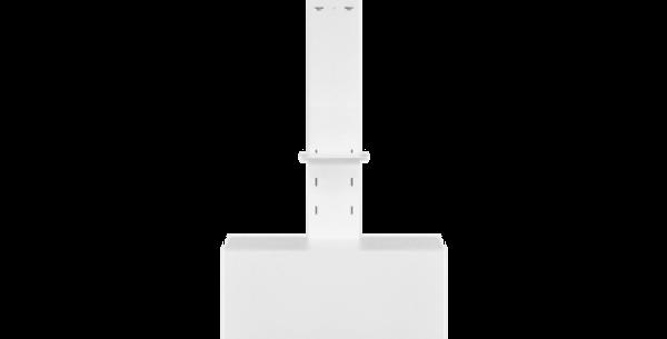 Videokonverentsi mööbel: reguleeritav ekraanijalg kapi ja kaamera riiuliga