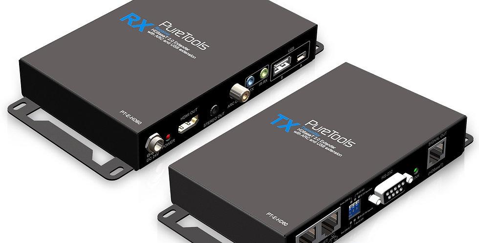HDMI üle HDbaseT | 4K | 3D |  pikendus 80m | USB kontroll