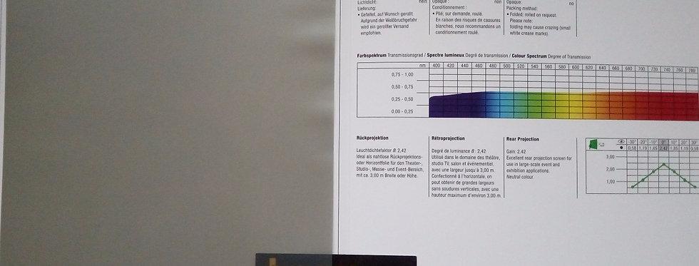 Optitrans® - hall tagant projekteeritav PVC ekraanimaterja