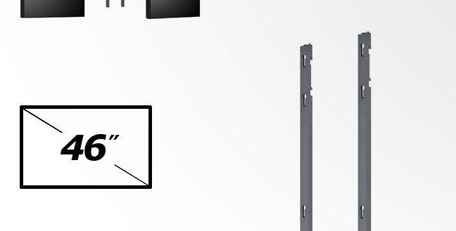 Videoseina kinnitus jalad - VESA 200, 300, 400 - 2 ekraan - portree
