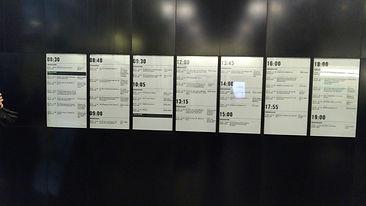 E-pabe ekraanid informatsiooni ja ajakavade edastmiseks