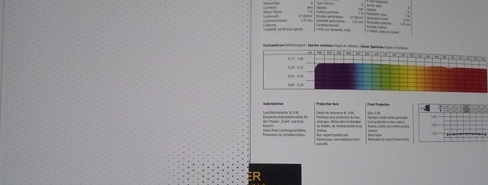 Opera® - valge auklik eest projekteeritav PVC ekraan