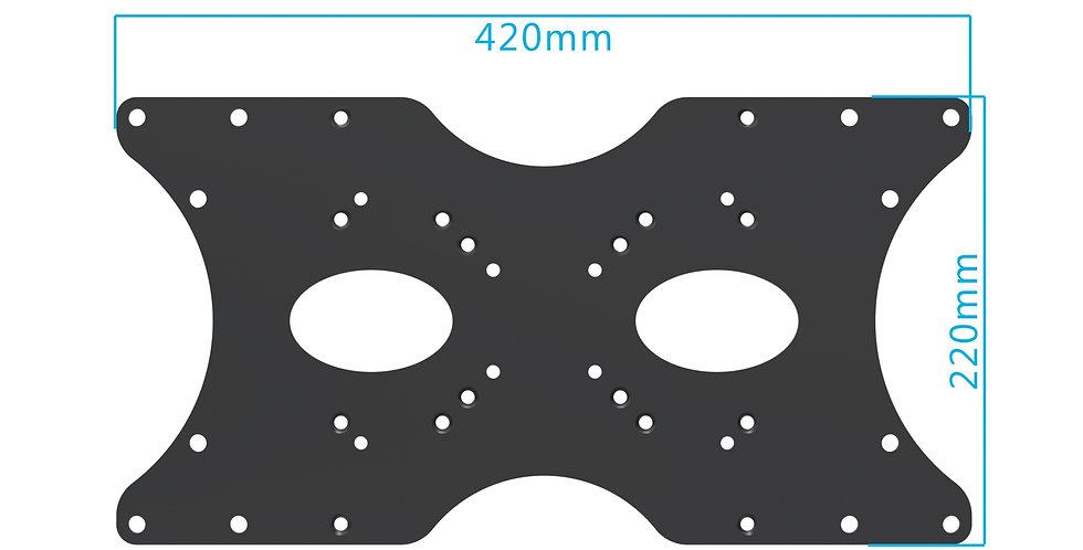 PureMounts® univeraal VASA adapter - plaat 420 x 220