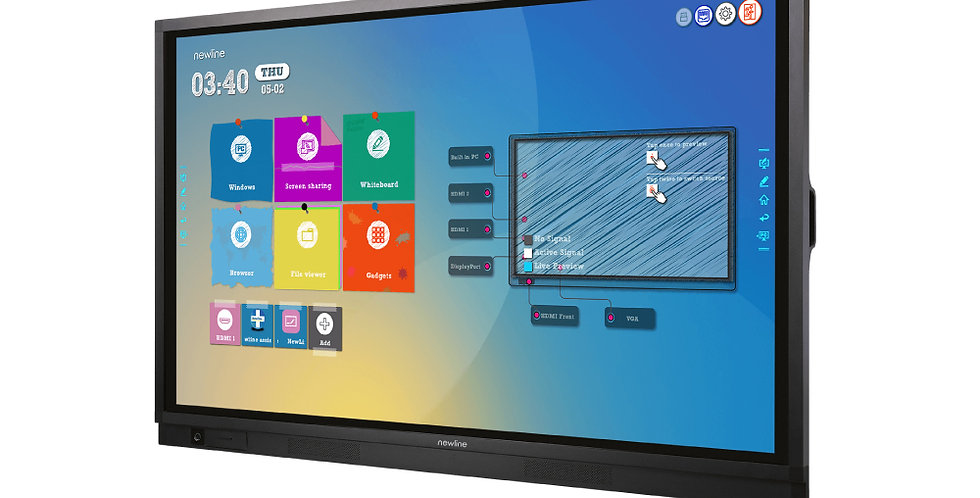 """Newline RS+   4K 65""""   Android 8.0   20 pt.   IR   OPS"""