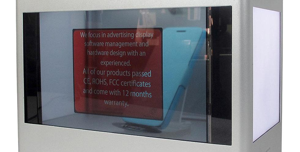 """Promokast - läbipaistev LCD ekraaniga 55"""""""